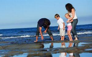 Caloundra Holidays with Kids rock pools